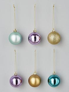pack-of-50-christmas-tree-baubles-ndash-gold-blue-and-lilac
