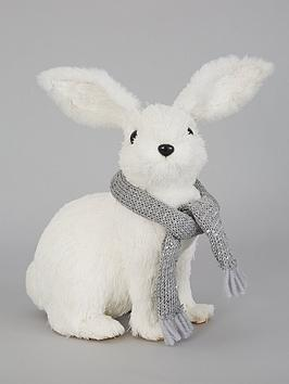 bristle-effect-winter-rabbit-christmas-decoration