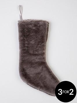 grey-faux-fur-christmas-stocking
