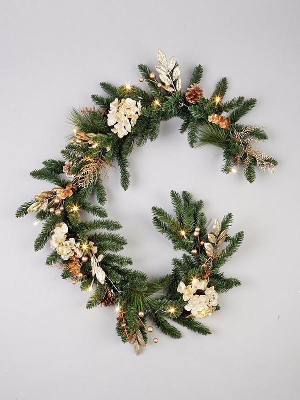 Pre Decorated Christmas Garland Psoriasisguru Com