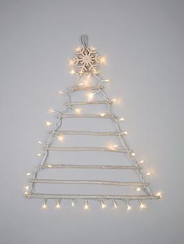 Very Pre-Lit Wall Hanging Christmas Tree &Ndash; 75 Cm Picture