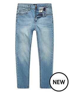 c6808e1e4 River Island Boys Sid Skinny Jeans - Light Blue