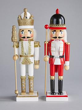 set-of-2-wooden-nutcracker-soldier-christmas-ornaments