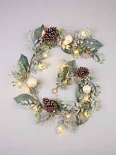 pre-lit-6ft-frosted-garland-with-cones-and-baubles