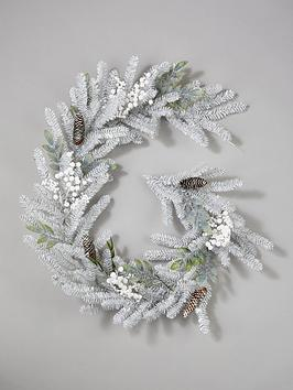 silver-grey-and-white-berry-garland-ndash-6ft
