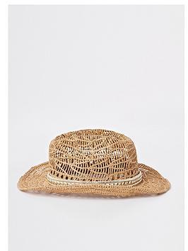 river-island-girls-brown-stud-embellished-straw-hat