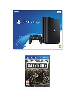 PlayStation 4 Pro  Playstation 4 Pro 1Tb Ps4 Black Pro Bundle With Days Gone