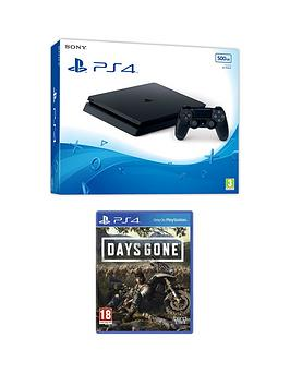playstation-4-ps4-black-500gb-console-with-days-gone-and-optional-extras