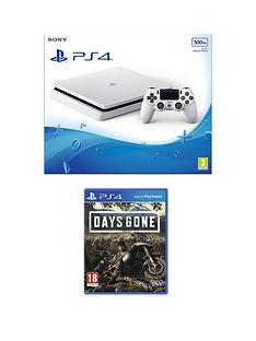 playstation-4-ps4-white-500gb-console-with-days-gone-and-optional-extras