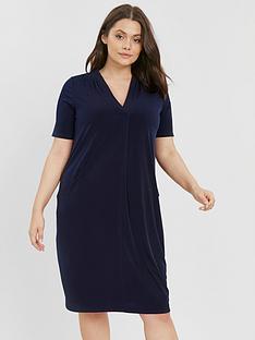evans-short-sleeve-pocket-dress