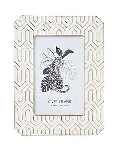 river-island-white-and-gold-aztec-geo-photo-frame
