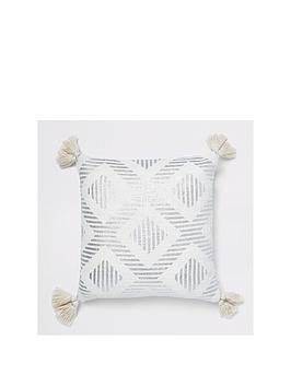 river-island-silver-print-cushion-with-tassels