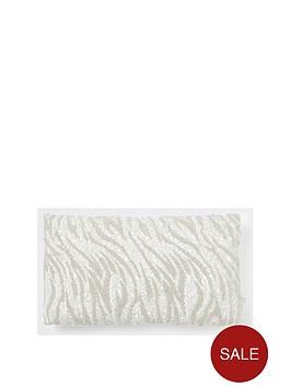 river-island-nbspsilver-zebra-print-beaded-cushion