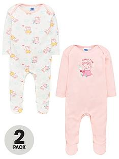 peppa-pig-baby-girls-2-packnbspsleepsuits-multi