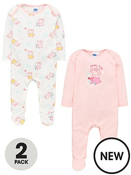 peppa-pig-baby-girls-2-packnbspsleepsuits-multi