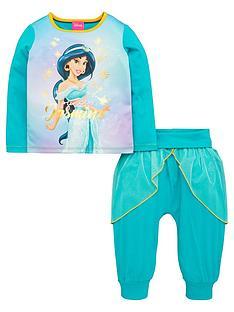 disney-princess-girls-jasmine-pyjamas-with-mesh-skirt-turquoise