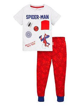 spiderman-boysnbsppyjamas-redgrey