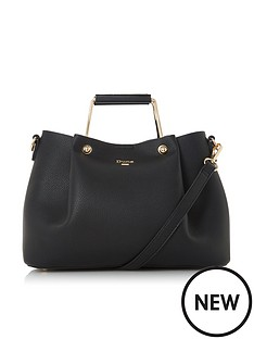 dune-london-darlow-large-metal-handle-tote-bag-black