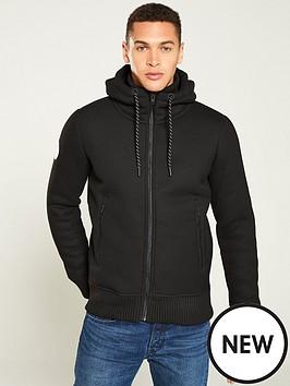 superdry-bonded-knit-zipped-hoodie-black