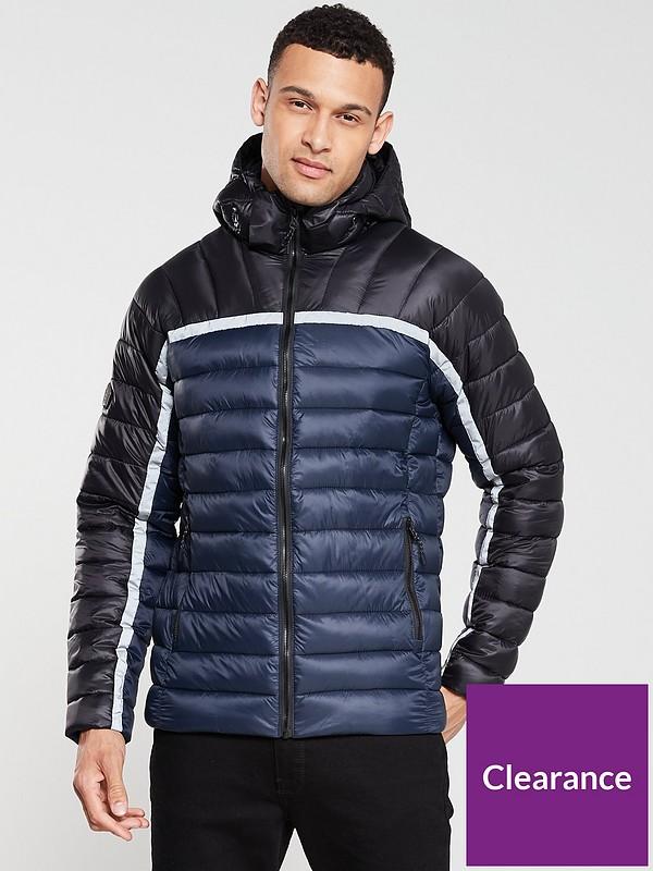 Superdry Men/'s New Fuji Double Zip Sports Jacket Navy Sizes XXXL S