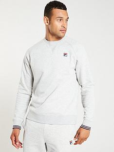 fila-pozzi-fleece-crew-neck-sweat-grey-marl