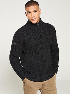 superdry-jacob-henley-jumper-charcoal
