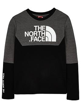 the-north-face-youth-south-peak-long-sleeve-top-blackgrey