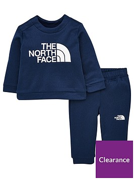 the-north-face-infant-surgent-crew-set-navy