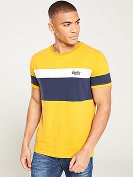 superdry-orange-label-chestband-t-shirt-mustardnavy
