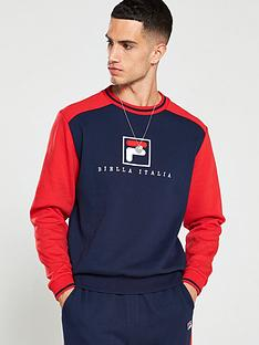 fila-ventura-graphic-crew-neck-sweat-navy