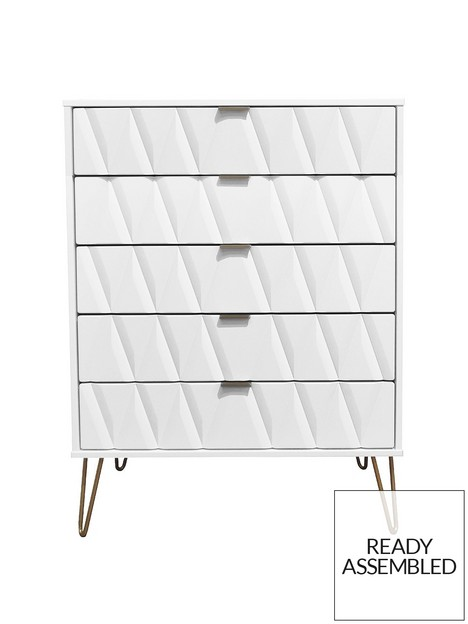 swift-versailles-ready-assembled-5-drawer-chest