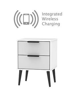 Swift Swift Copenhagen Ready Assembled 2 Drawer Bedside Table With  ... Picture