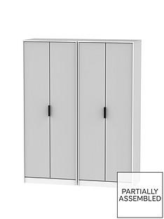 copenhagennbsppart-assembled-4-door-wardrobe