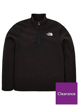 the-north-face-youth-glacier-14-zip-recycled-jacket-blackwhite