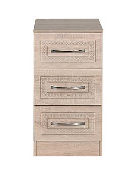 Swift Swift Winchester Ready Assembled 3 Drawer Bedside Chest Picture