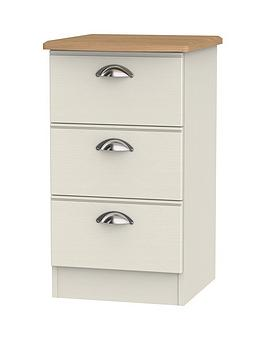 Swift Swift Charlotte Ready Assembled 3 Drawer Bedside Cabinet Picture