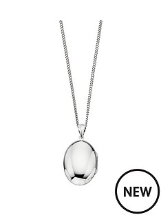 the-love-silver-collection-sterling-silver-personalised-oval-locket-pendant-necklace