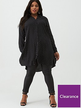 junarose-curve-nelly-spot-tunic-blackwhite