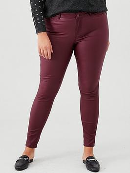 Junarose Junarose Curve Fiveoris Coated Jeans - Port Picture