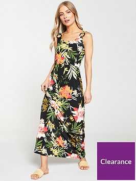 v-by-very-circle-ring-trim-maxi-dress-tropical-print