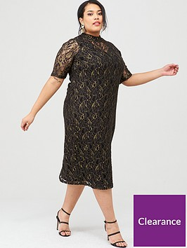 junarose-curvenbspjuli-high-neck-lace-midi-dress-black