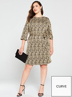 junarose-curve-palo-glitter-dress-with-waist-tie-blackgold