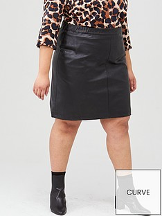 junarose-savannah-imitated-leather-skirt-black