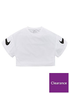 nike-girls-g-dry-short-sleeve-gfx-studio-top-whiteblack