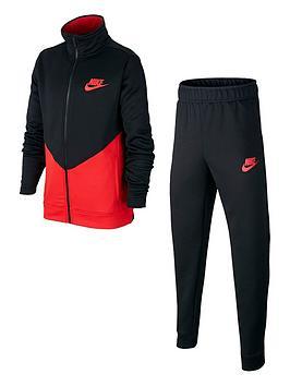 Nike Nike Sportswear Kids Core Futura Tracksuit - Black/Red Picture