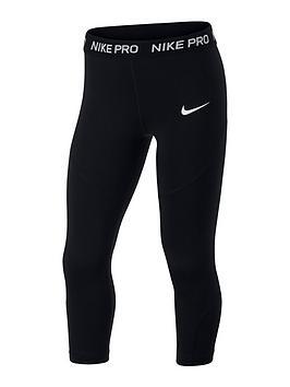Nike Nike Girls Pro Capri Leggings - Black Picture
