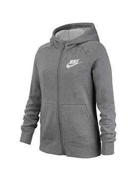 Nike Nike Nsw Girls Full Zip Hoodie - Grey/White Picture
