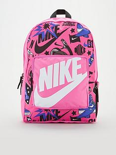nike-kids-classic-all-over-print-backpacknbsp--pinkblack
