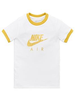 nike-air-girls-nsw-logo-ringer-short-sleeve-t-shirt-whitegold