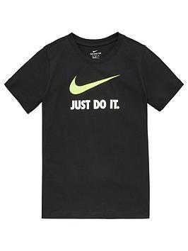 Nike Nike Sportswear Kids Just Do It Swoosh Tee - Black/Volt Picture
